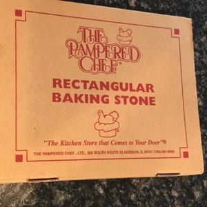 The Pampered Chef rectangular baking stone!